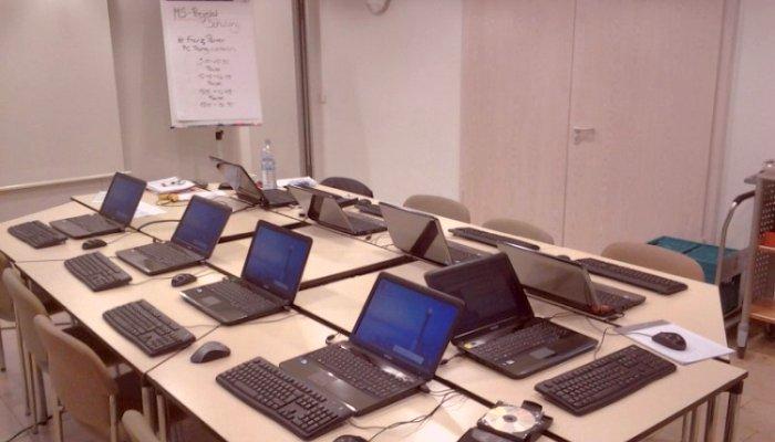 mobiles Klassenzimmer für inhouse Schulung